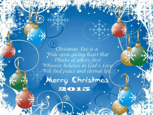 Merry Christmas 2015 Greeting Cards