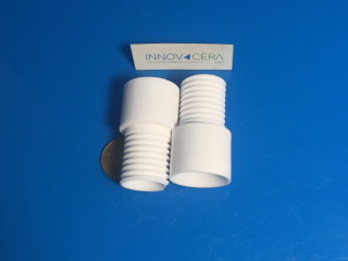 95 Alumina Ceramic Screw Thread Bushing Tube