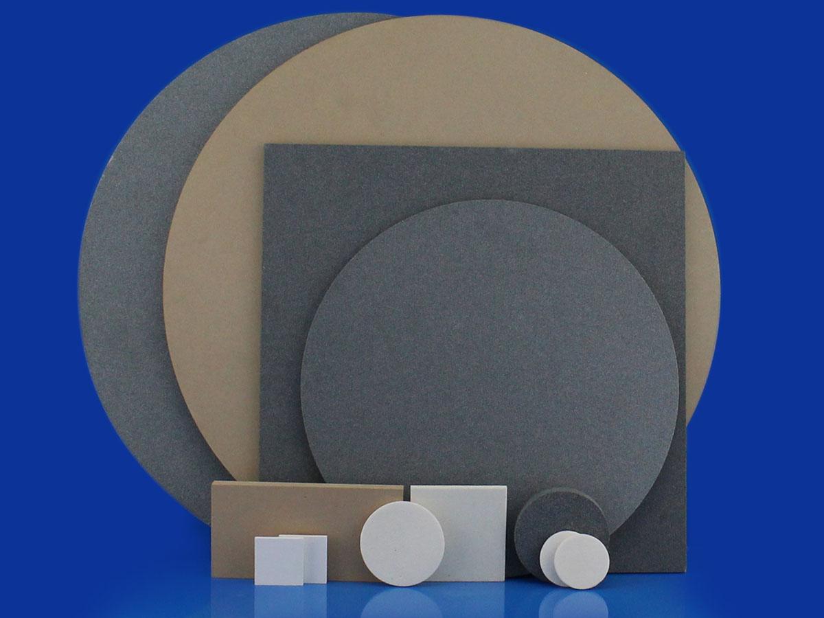 Alumina And Silicon Carbide Porous Ceramic Discs And Plates