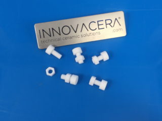 Alumina Ceramic Screw Bolt Nut