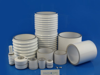 Alumina Metallizing Ceramic Tubes Bushing Rings For Vacuum Furnace