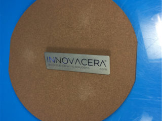 Brown Porous Ceramic Disc With Groove