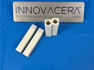 High Purity Alumina Ceramic Square Tubes With Bores