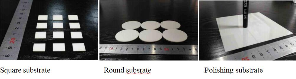 ALN substrate are available in regular sizes