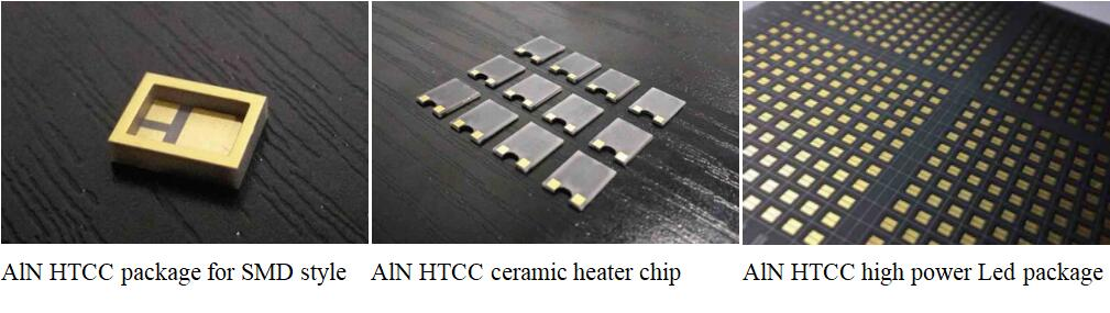 ALN metallized HTCC products