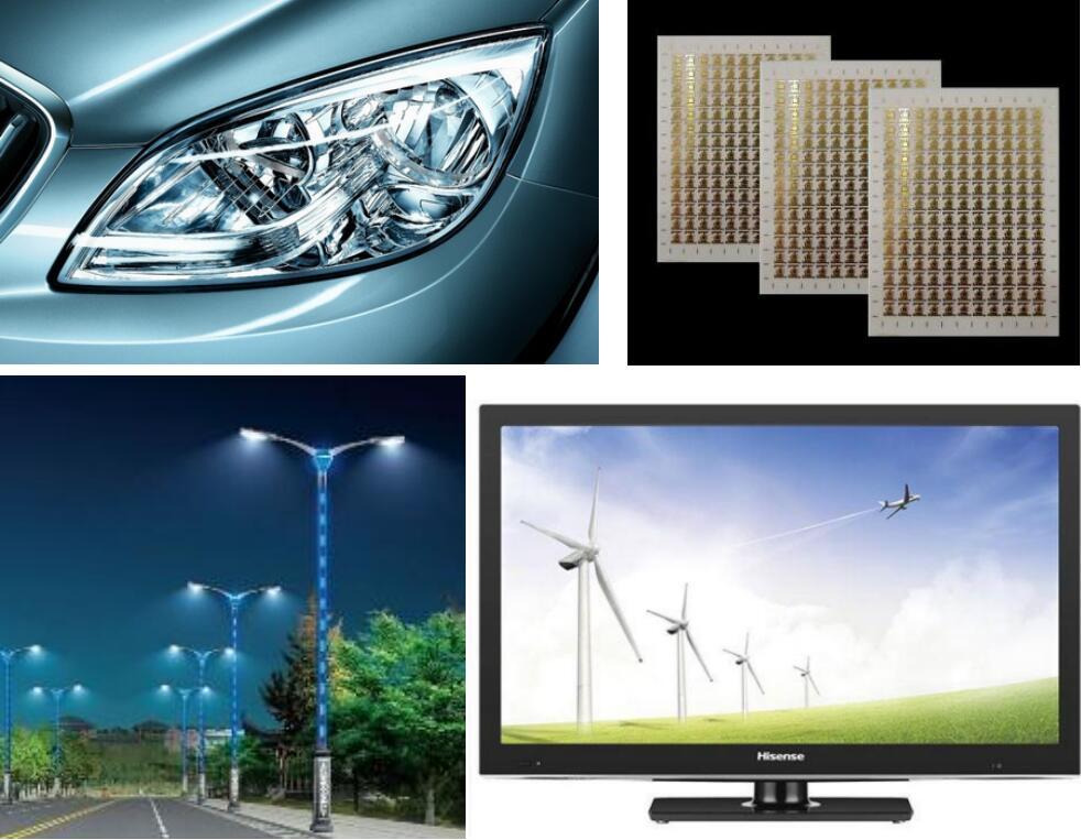 High brightness high power LED