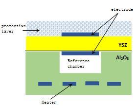 Schematic diagram of HF sensing element